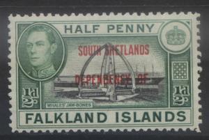 Falkland Is Dep- Scott 5L1- Overprint Definitive-1944- MNH - Single 1/2d Stamp1