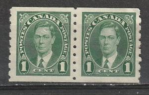 #238 Canada Mint NG pair George VI