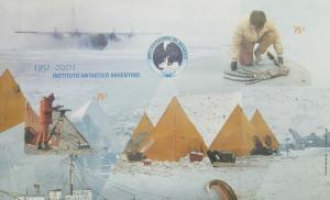 O) 2001 ARGENTINA, IMPERFORATE, PREHISTORIC ANIMAL FOSIL OF THE ANTARCTICA- SCIE