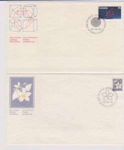 CANADA FDC FROM CANADA POST OFFICE STAMPS #787,865 LOT#M149