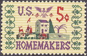 United States # 1253 mnh ~ 5¢ U.S. Homemakers, Farm Scene Sampler