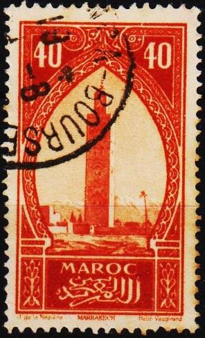 Morocco(French). 1917 40c S.G.135 Fine Used