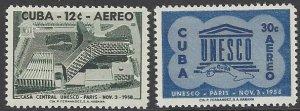 Cuba C193-4 MNH UNESCO 1958