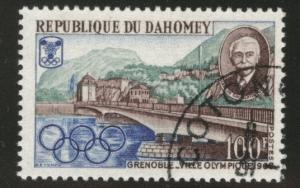 Dahomey Scott 243 Used CTO Favor cancel 1967 Olympic stamp