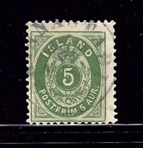 Iceland 24 Used 1896 issue