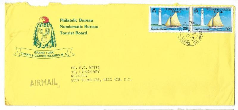 1979 Turks & Caicos Islands To Britain Advertisement Cover - (QQ97)