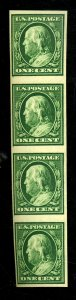 343V MINT VERT STRIP OF 4 F-VF OG LH Cat $60