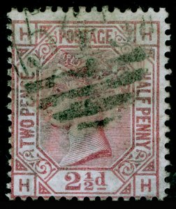 SG141, 2½d rosy mauve plate 10, USED. Cat £85. HH