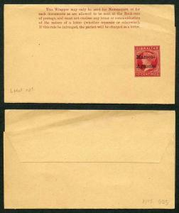 QV Morocco Agencies Postal Stationery wrapper local opt