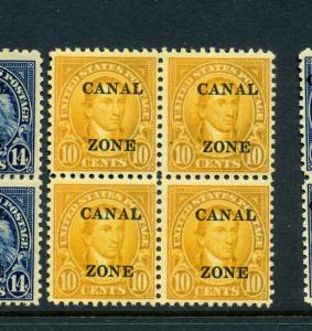 Canal Zone Scott 87 Overprint  Mint Block of 4 Stamps NH (Stock CZ87-18)
