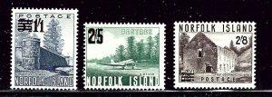 Norfolk Is 26-28 MNH 1960 surcharged set    (ap2472)