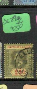 SEYCHELLES  (P2705B)   KGV  25C  SG  89C    VFU