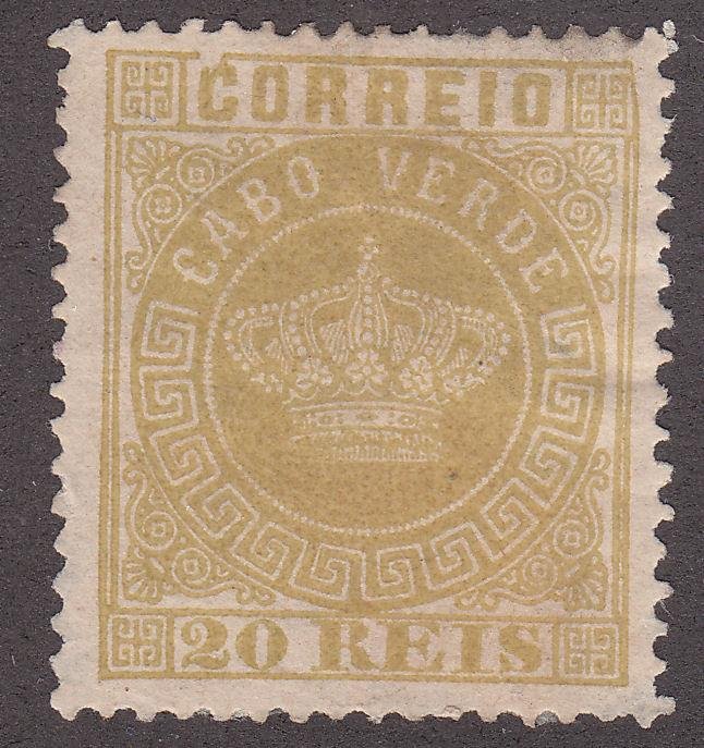 Cape Verde 3 Unused 1877 Crown of Portugal