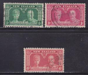 New Zealand Scott # 199-201 VF used set nice colors cv $ 29 ! see pic !