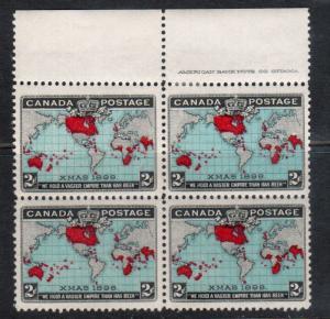 Canada #86b Very Fine Never Hinged Imprint Block