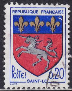 France 1143 Arms of Saint Lo 1966
