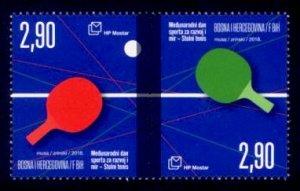 Bosnia & Herzegovina (Croat) Sc# 372 MNH International Day of Sport (Pair)