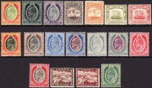 1904 - 1911 Malta KEVII complete set (18) Wmk 3 ML/MH Sc# 28 / 45 CV $387.00