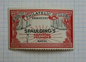 1932 Endicott Philatelic Club NY Spauldings Bread Philatelic Souvenir Ad