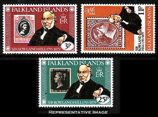 Falkland Islands MNH 291-3 Sir Rowland Hill SCV 1.35