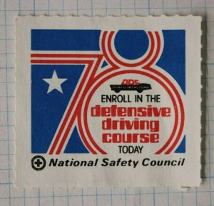 Defensive Driving Course Enroll National Safety Council 1970 ad poster stamp