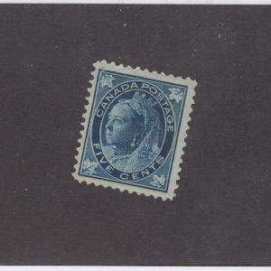 CANADA (MK510)  # 70  FVF- MNG  5cts  QV MAPLE LEAF ISSUE / BLUE CAT VALUE $100