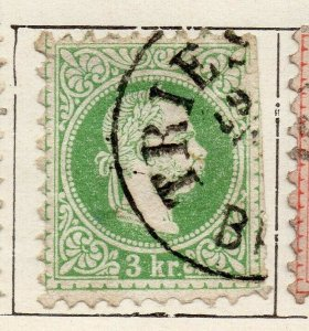Austria 1867 Early Issue Fine Used 3kr. NW-11535