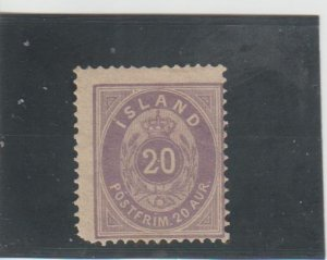 Iceland  Scott#  13  MH  (1876 Numeral)
