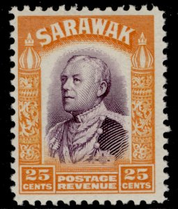 SARAWAK GV SG117, 25c violet & orange, LH MINT.