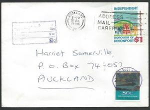 NEW ZEALAND 1990 postage due cover - illegal use of cinderella.............51925