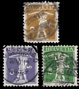 Switzerland 1907 Sc 146-48 uvg 2011 SCV $15.60 (copy 2) string in front