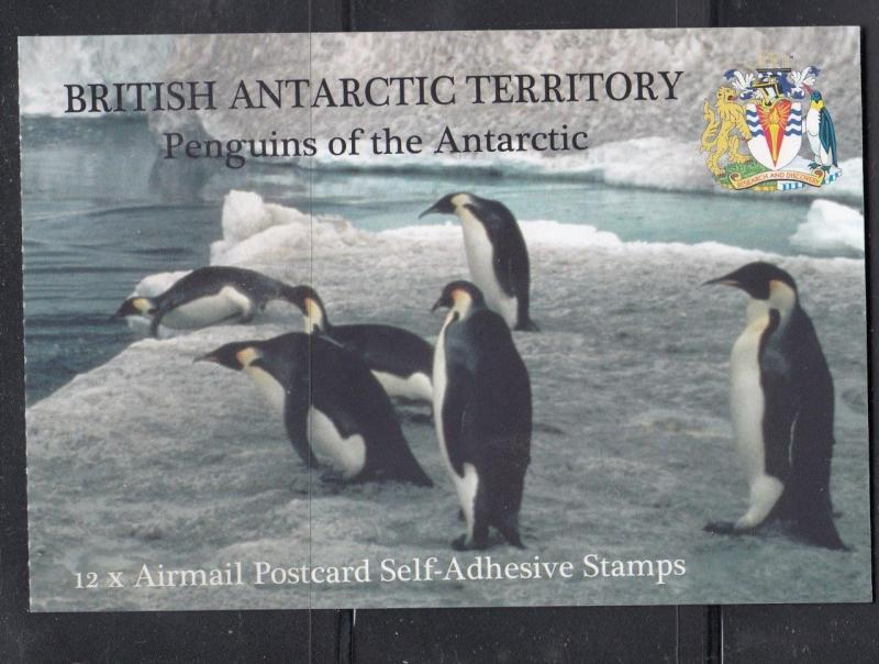 BRITISH ANTARCTIC TERRITORY PENGUINS OF THE ANTARCTIC BOOKLET ALL DIFFERENT