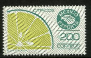 MEXICO Exporta 1135a $200P Citrus Fruit Fluor Paper 8 MNH