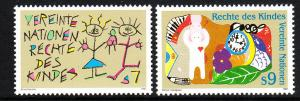 117-18 United Nations Vienna 1991 Rights of the Child MNH