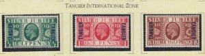 MOROCCO AGENCIES, TANGIER, 1935 Silver Jubilee set of 3, lhm.