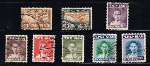 THAILAND STAMP SIAM  USED STAMPS COLLECTION LOT #3