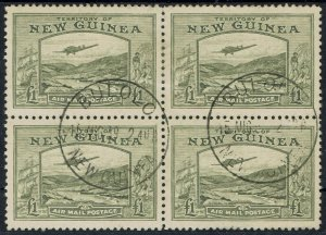 NEW GUINEA 1939 BULOLO AIRMAIL 1 POUND BLOCK USED