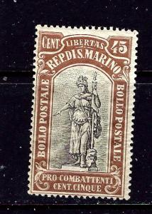 San Marino B8 MLH 1918 issue