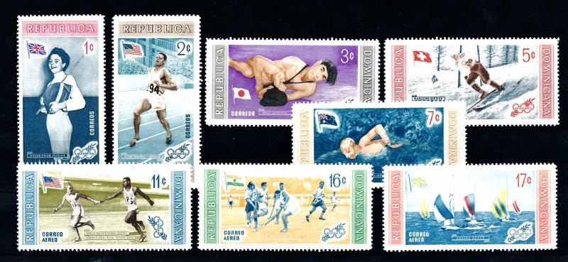 [44359] Dominican Rep. 1958 Olympic games Fencing Wrestling Hockey MNH