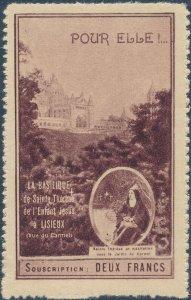 Stamp Label France Exposition Basilique Saint Threres Jesus Cinderella MNH B