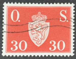 DYNAMITE Stamps: Norway Scott #O61 - USED