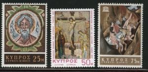 Cyprus MNH 308-10 St. Andrews Monastery 1967