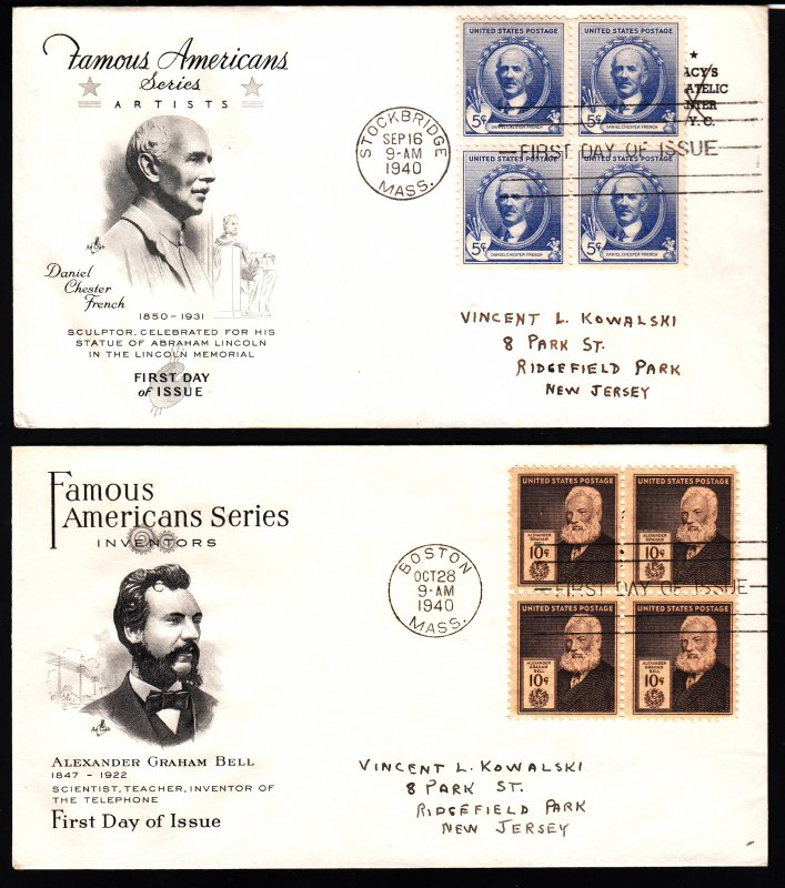 859-93 Beautiful matched set FDC's produced by Macy's philatelic center N.Y.!