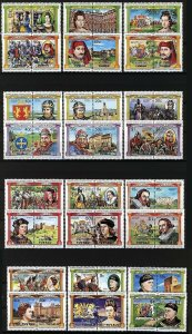 Tuvalu, 1984 Kings & Queens, 4 different sets, 24 pairs, 48v VF MNH