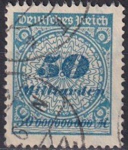 Germany #299  F-VF Used  CV $34.00  (Z4832)
