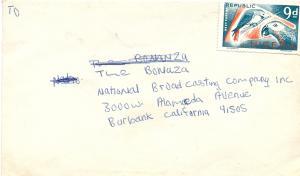 Celebrity Fan Mail to  Bonanza -From Nigeria