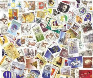 Lithuania Stamp Collection 100 Diff Postally  Stamps Post 1990