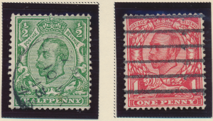 Great Britain Stamps Scott #157 To 158, Used - Free U.S. Shipping, Free World...