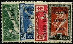 HERRICKSTAMP LEBANON Sc.# 45-48 Mint LH Scott Retail $130.00