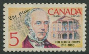 STAMP STATION PERTH Canada #484 George Brown 1968 MNH CV$0.25